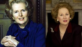 Margaret Thatcher and Meryl Streep from the Film 4 movie The Iron Lady