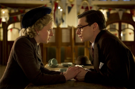 young Margaret and Denis Thatcher from the Film 4 movie The Iron Lady