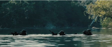 SEAL heads in the water from the Bandito Brothers film Act of Valor