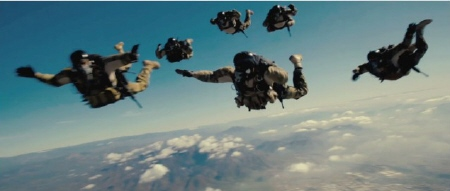 SEALs during a HALO jump from the Bandito Brothers film Act of Valor