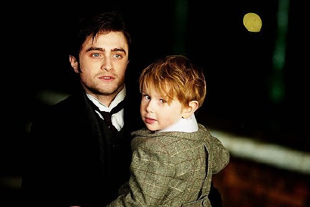 Daniel Radcliffe and Misha Handley from the CBS Films movie The Woman in Black