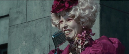 Elizabeth Banks as Effie Trinket from the Lionsgate film The Hunger Games
