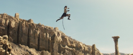 John Carter leaps high from the Walt Disney Pictures film John Carter