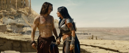 John Carter and Deja Thoris from the Walt Disney Pictures film John Carter