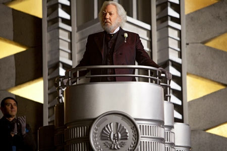 Donald Sutherland as President Snow from the Lionsgate film The Hunger Games
