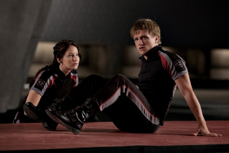 Katniss and Peeta from the Lionsgate film The Hunger Games