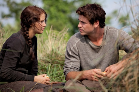 Katniss and Gale from the Lionsgate film The Hunger Games