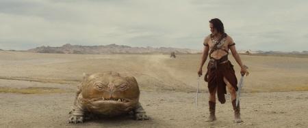 John Carter and Woola from the Walt Disney Pictures film John Carter