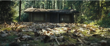 creepy cabin from the Mutant Enemy film Cabin in the Woods
