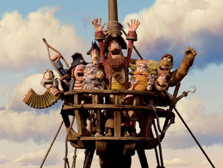 the pirate crew from the Aarman/Sony film The Pirates!