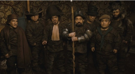 Half-Pint, Butcher, Napoleon, Grimm, Chuckles, Grub, and Wolf from the Relativity Media film Mirror Mirror
