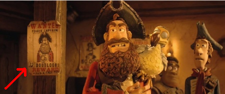 the Captain rails over his meager reward money from the Aarman/Sony film The Pirates!