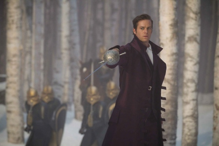 Prince Alcott threatens dwarves from the Relativity Media film Mirror Mirror