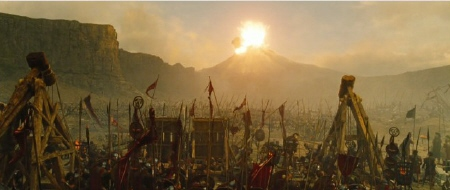 battle scene from the Warner Bros. Pictures film Wrath of the Titans