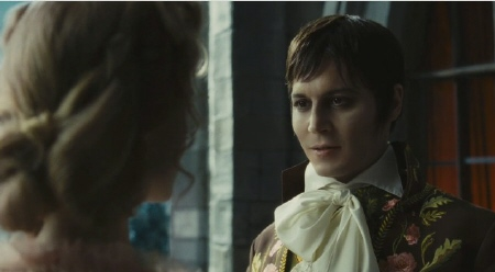 Johnny Depp as young Barnabas Collins from the Warner Bros. Pictures film Dark Shadows