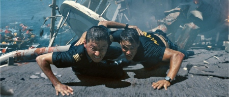 Nagata and Hopper from the Universal Pictures film Battleship