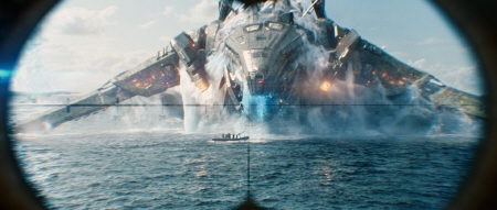 firing from the Universal Pictures film Battleship