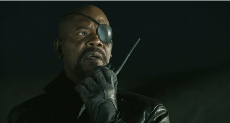 Nick Fury calls in the Avengers from the Marvel Studios film The Avengers
