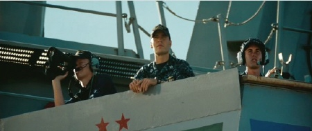 on the old ship from the Universal Pictures film Battleship