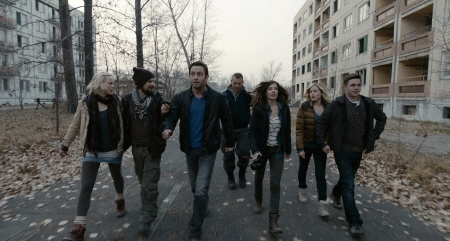 walking down the street in Pripyat from the Alcon Entertainment film Chernobyl Diaries