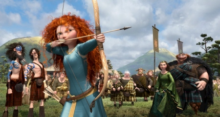 Merida shoots for her own hand from the Disney Pixar film Brave