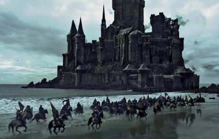 attack on the castle from the Universal Pictures film Snow White and the Huntsman