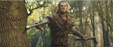 Huntsman attacks from the Universal Pictures film Snow White and the Huntsman