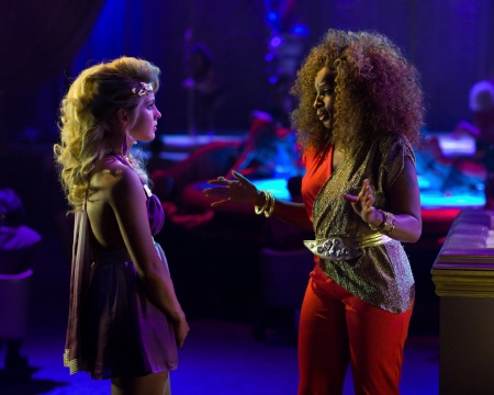 Mary J. Blige convinces Sherrie to become a stripper in the Warner Bros. Pictures film Rock of Ages