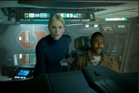 Vickers and Janek on the bridge from the 20th Century Fox film Prometheus