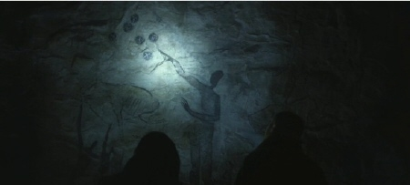 cave painting of aliens from the 20th Century Fox film Prometheus