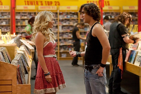 Sherrie and Drew meet cute in the Warner Bros. Pictures film Rock of Ages