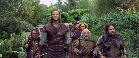 Huntsman and the dwarves from the Universal Pictures film Snow White and the Huntsman