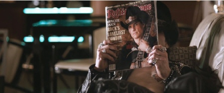 Stacee Jaxx on the cover of Rolling Stone from the Warner Bros. Pictures film Rock of Ages