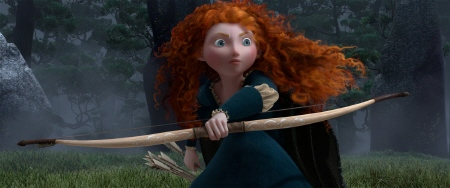 Merida with her bow from the Disney Pixar film Brave