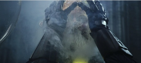 a scientist getting his face melted from the 20th Century Fox film Prometheus