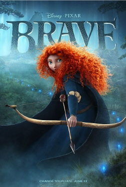 poster from the Disney Pixar film Brave