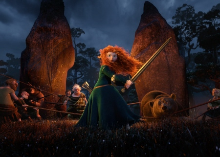 Merida protects her mother from the Disney Pixar film Brave