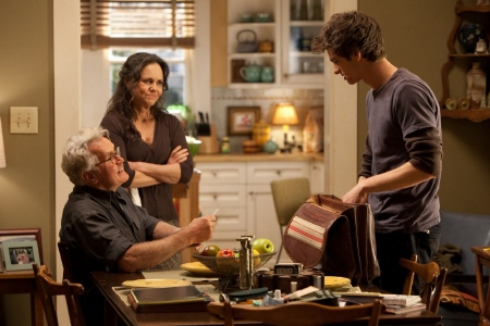 Peter with Uncle Ben and Aunt May from the Marvel Studios film Amazing Spider-Man