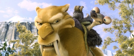 Deigo and Granny from the 20th Century Fox Film Ice Age Continental Drift