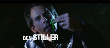 Ben Stiller with alien goop from the Twentieth Century Fox film The Watch