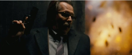 Commissioner Gordon in trouble from the Legendary Pictures film Dark Knight Rises