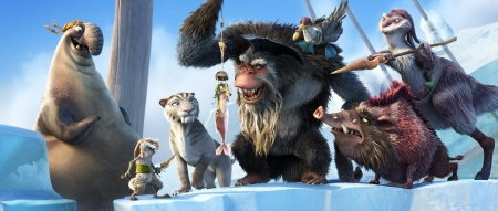 Captain Gutt and his pirate crew capture Scrat from the 20th Century Fox Film Ice Age Continental Drift