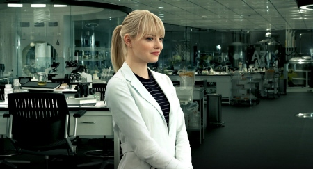 Emma Stone plays a high school scientist from the Marvel Studios film Amazing Spider-Man