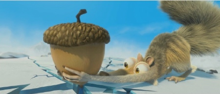 Scrat cracks the world from the 20th Century Fox Film Ice Age Continental Drift