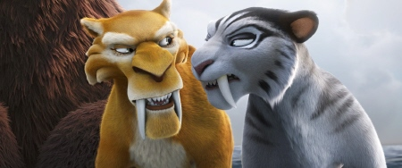 Deigo and Shira from the 20th Century Fox Film Ice Age Continental Drift