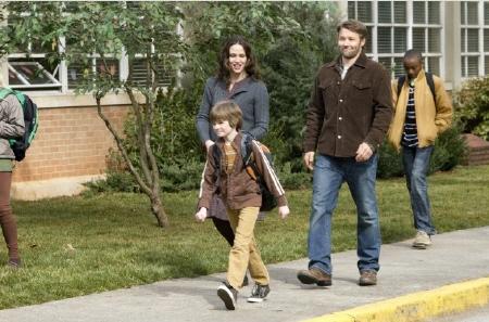 Cindy and Jim take Timothy to school