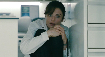 Rachel Weisz hides from the Universal Pictures film The Bourne Legacy