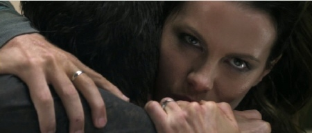 Lori administers the hug of death from the Columbia Pictures film Total Recall 2012