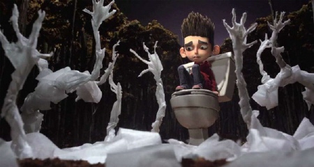 Norman has a vision of toilet paper zombies from the Laika Entertainment film Paranorman