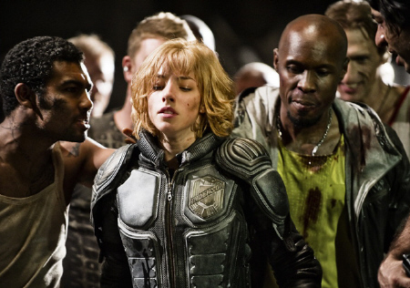 Olivia Thurlby is captured from the DNA Pictures film Dredd